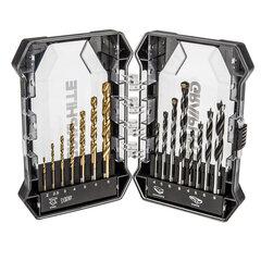 Grąžtų rinkinys GRAPHITE 55H220, 15 vnt kaina ir informacija | Mechaniniai įrankiai | pigu.lt