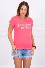 Marškinėliai moterims, rožiniai kaina ir informacija | Marškinėliai moterims | pigu.lt