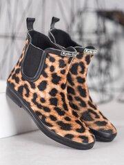 Guminiai batai moterims, rudi, juodi kaina ir informacija | Guminiai batai moterims, rudi, juodi | pigu.lt