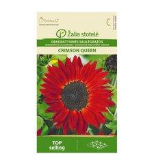Saulėgrąžos dekoratyvinės Crimson Queen Žalia stotelė 1,0 g kaina ir informacija | Gėlių sėklos | pigu.lt