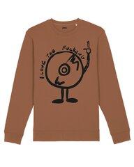 Unisex džemperis I Love My Life, rudas kaina ir informacija | Džemperiai moterims | pigu.lt