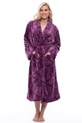 Chalatas violetinis su ornamentais kaina ir informacija | Chalatas violetinis su ornamentais | pigu.lt
