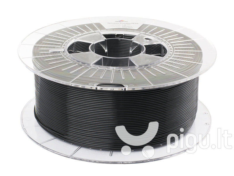 Filamentai Filament Premium PET-G 1.75mm DEEP BLACK 1kg kaina