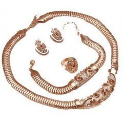 Vėrinys DUBAI 05 su auskarais, apyranke ir žiedu, spalva aukso kaina ir informacija | Papuošalų rinkiniai | pigu.lt