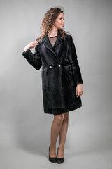 Dirbtinio pluošto kailinukai moterims, juodi kaina ir informacija | Paltai moterims | pigu.lt