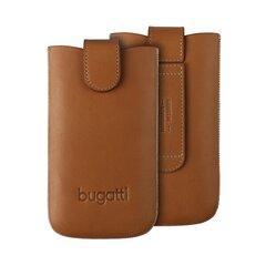 Bugatti M Universal Pouch Odinis dėklas su rudu magnetu (7 x 12 cm) kaina ir informacija | Telefono dėklai | pigu.lt