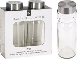 Excellent Houseware druskinė ir pipirinė, 2 vnt. kaina ir informacija | Prieskonių indeliai, malūnėliai | pigu.lt