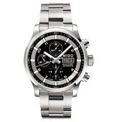 Vyriškas laikrodis plieninis su chronografu kaina ir informacija | Vyriški laikrodžiai | pigu.lt