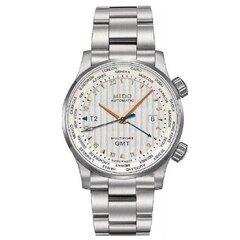 Vyriškas laikrodis plieninis su GMT funkcija kaina ir informacija | Vyriški laikrodžiai | pigu.lt