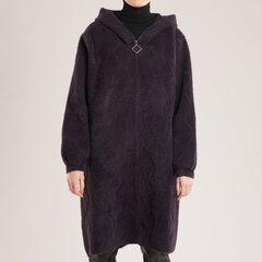 Ilgas megztukas-paltas su užtrauktuku kaina ir informacija | Paltai moterims | pigu.lt