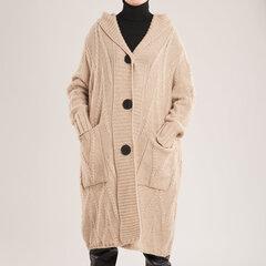 Ilgas laisvo stiliaus megztinis kaina ir informacija | Megztiniai moterims | pigu.lt