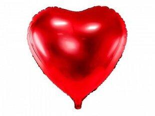 Folinis balionas Širdis 45cm, raudonas kaina ir informacija | Balionai | pigu.lt