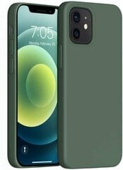 Mocco Liquid Silicone Soft Back Case Силиконовый чехол для Apple iPhone 12 / iPhone 12 Pro Черный цена и информация | Чехлы для телефонов | pigu.lt