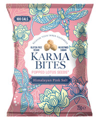Lotoso sėklų spragėsiai Karma Bites Himalayan Pink Salt, 25 g kaina ir informacija | Užkandžiai, traškučiai | pigu.lt