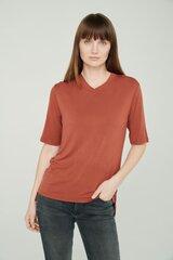 Lengvi švelnūs marškinėliai moterims, raudoni kaina ir informacija | Marškinėliai moterims | pigu.lt