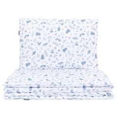 MamoTato patalynė 100x135cm, miškas, balta / mėlyna, 2 dalių kaina ir informacija | Patalynė kūdikiams, vaikams | pigu.lt