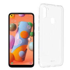 Roar Jelly Clear Anti-Bacteria Slim Back Cover Case, skirtas Samsung Galaxy A11/M11, skaidrus kaina ir informacija | Telefono dėklai | pigu.lt