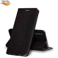 TakeMe Fabric series Smart magnetic fix book case for Samsung Galaxy A72 (A726) 5G, Black kaina ir informacija   Telefono dėklai   pigu.lt