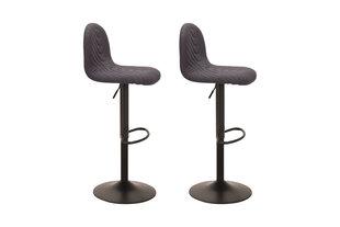 Modernus baro kėdžių komplektas Circus Antracite (tamsiai pilkas), reguliuojamas sėdėjimo aukštis kaina ir informacija | Virtuvės ir valgomojo kėdės | pigu.lt
