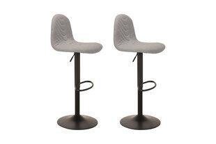 Modernus baro kėdžių komplektas Circus Grey (šviesiai pilkas), reguliuojamas sėdėjimo aukštis kaina ir informacija | Virtuvės ir valgomojo kėdės | pigu.lt