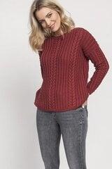 Megztinis moterims MKM 138921, raudonas kaina ir informacija | Megztiniai moterims | pigu.lt