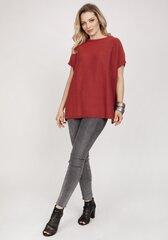 Megztinis moterims MKM 145237, raudonas kaina ir informacija | Megztiniai moterims | pigu.lt