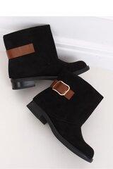 Aulinukai moterims Inello 146827, juodi kaina ir informacija | Aulinukai, ilgaauliai batai moterims | pigu.lt