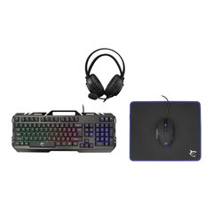 White Shark CHEYENNE/US GC-4103 klaviatūra + ausinės + pelė + pelės kilimėlis kaina ir informacija | Klaviatūros | pigu.lt