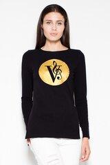 Megztinis moterims Venaton 77521, juodas kaina ir informacija | Megztiniai moterims | pigu.lt