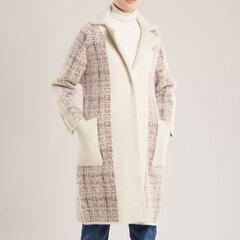 Elegantiškas paltas, baltas kaina ir informacija | Paltai moterims | pigu.lt