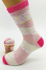Kojinės moterims ledų puodelyje Ice cream socks kaina ir informacija | Kojinės moterims ledų puodelyje Ice cream socks | pigu.lt