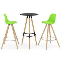 Baro baldų komplektas, 3 dalių, žalios spalvos (287255+289176) kaina ir informacija | Virtuvės baldų komplektai | pigu.lt