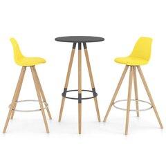Baro baldų komplektas, 3 dalių, geltonas (287256+287270) kaina ir informacija | Virtuvės baldų komplektai | pigu.lt