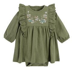 Cool Club smėlinukas-suknelė ilgomis rankovėmis mergaitėms, CCG2200801 kaina ir informacija | Suknelės ir sijonai kūdikiams | pigu.lt