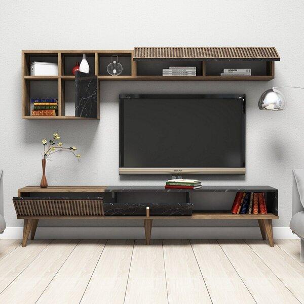 Svetainės baldų komplektas Kalune Design 845(XLI), rudas internetu