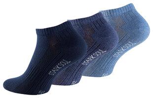 Unisex trumpos kojinės su šukuotine medvilne Stark Soul 2124, 3 poros, mėlynos kaina ir informacija | Vyriškos kojinės | pigu.lt