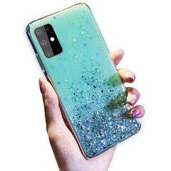 Telefono dėklas Fusion glue glitter, skirtas Samsung A125 Galaxy A12, žalias kaina ir informacija | Telefono dėklai | pigu.lt