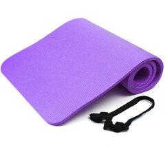 Gimnastikos/jogos kilimėlis PVC 183x60x1,5 cm, violetinis kaina ir informacija | Gimnastikos/jogos kilimėlis PVC 183x60x1,5 cm, violetinis | pigu.lt