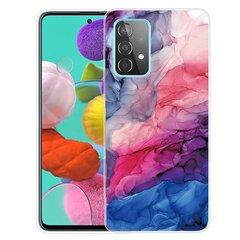 Fusion marble, skirtas Samsung A726/A725 Galaxy A72/A72 5G, mėlynas kaina ir informacija | Telefono dėklai | pigu.lt