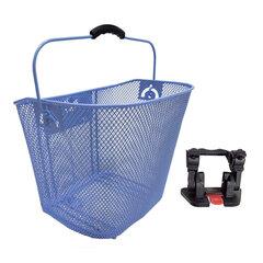 Krepšys ant vairo, 32.5x25x26cm, mėlynas kaina ir informacija | Dviračių bagažinės | pigu.lt