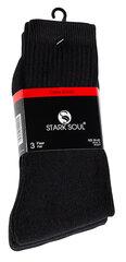 Sportinės kojinės vyrams Stark Soul Essential 2091, 3 poros, juodos kaina ir informacija | Vyriškos kojinės | pigu.lt