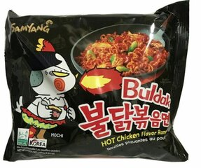 Korejietiški aštrūs makaronai Buldak Hot Chicken Ramen, 140 g kaina ir informacija   Makaronai   pigu.lt