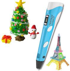 FantasyHome 3D rašiklis su 10 metrų plastiko, žydras kaina ir informacija | FantasyHome 3D rašiklis su 10 metrų plastiko, žydras | pigu.lt