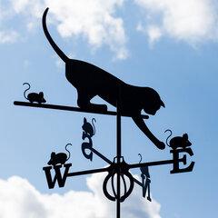 Декоративный флюгер - Кот
