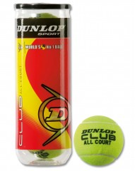 Lauko teniso kamuoliukai Dunlop Club All Court, 3 vnt. kaina ir informacija | Lauko tenisas | pigu.lt