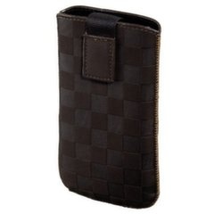 HAMA Velvet Pouch Karo Mobile Phone Sleeve brown size L