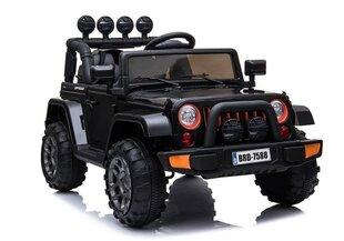 Dvivietis vaikiškas elektromobilis Jeep 4x4, juodas kaina ir informacija | Dvivietis vaikiškas elektromobilis Jeep 4x4, juodas | pigu.lt
