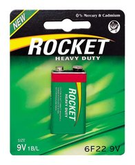 Rocket Heavy Duty 9V baterija