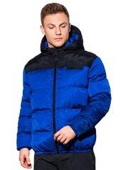 Vyriška dygsniuota žieminė striukė Ombre C458 mėlyna kaina ir informacija | Vyriška dygsniuota žieminė striukė Ombre C458 mėlyna | pigu.lt