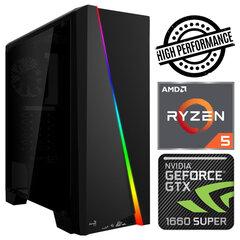 INTOP Ryzen 5 5600X 32GB 480SSD M.2 NVME+1TB GTX1660 SUPER 6GB no-OS kaina ir informacija | Stacionarūs kompiuteriai | pigu.lt